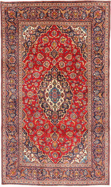 Keshan Rug 190X324 Authentic  Oriental Handknotted Dark Red/Rust Red (Wool, Persia/Iran)