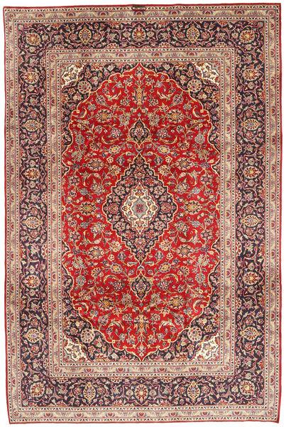 Keshan Rug 200X298 Authentic  Oriental Handknotted Rust Red/Dark Red/Dark Brown (Wool, Persia/Iran)