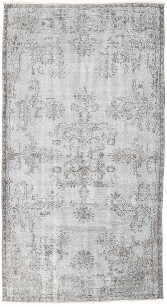 Colored Vintage Rug 115X212 Authentic  Modern Handknotted Light Grey/White/Creme (Wool, Turkey)