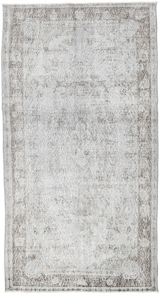 Colored Vintage Rug 110X208 Authentic  Modern Handknotted Light Grey (Wool, Turkey)