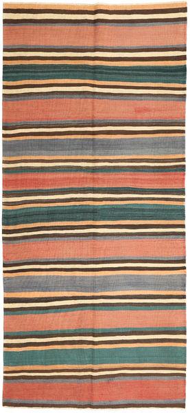 Kilim Fars Rug 160X353 Authentic  Oriental Handwoven Hallway Runner  Dark Grey/Light Pink (Wool, Persia/Iran)
