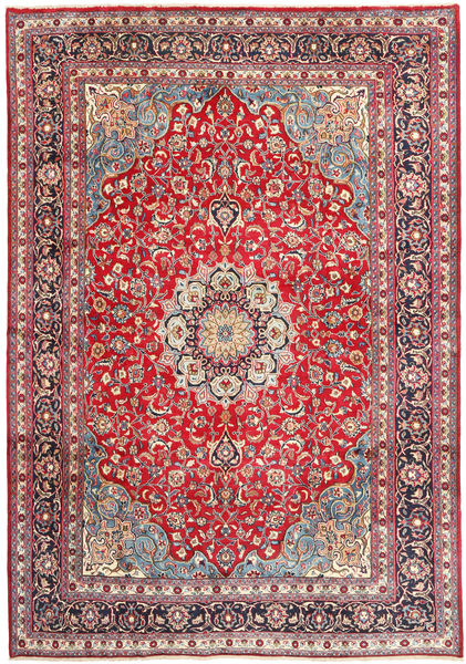 Mashad Rug 250X355 Authentic  Oriental Handknotted Beige/Rust Red Large (Wool, Persia/Iran)