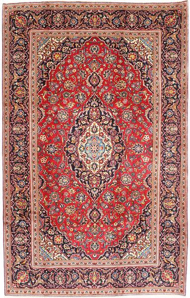 Keshan Rug 198X303 Authentic  Oriental Handknotted Rust Red/Dark Red (Wool, Persia/Iran)