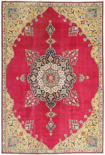 Tabriz Patina Rug 220X318 Authentic  Oriental Handknotted Crimson Red/Dark Beige (Wool, Persia/Iran)