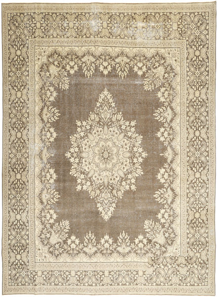Kerman Patina Rug 285X388 Authentic  Oriental Handknotted Light Grey/Beige Large (Wool, Persia/Iran)