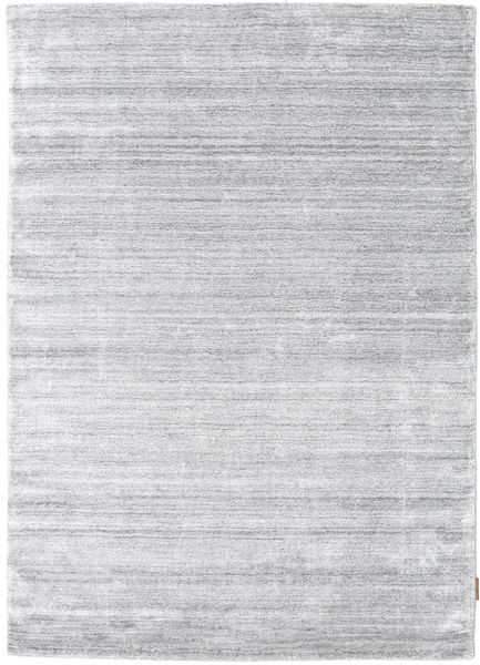 Bamboo Silk Loom - Grey Rug 140X200 Modern Light Grey/White/Creme ( India)