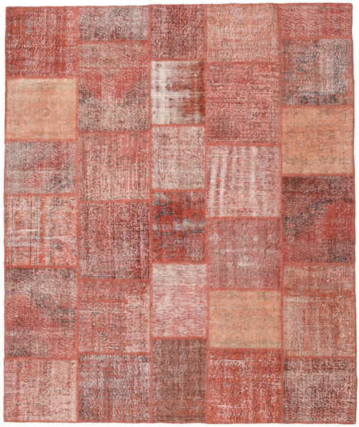Patchwork Rug 251X302 Authentic  Modern Handknotted Dark Red/Light Pink Large (Wool, Turkey)