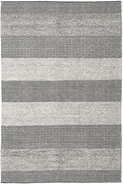 Folke - Brown Rug 200X300 Authentic  Modern Handwoven Light Grey/Dark Grey (Wool, India)