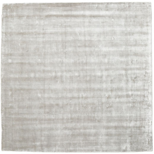Broadway - Silver White Rug 250X250 Modern Square Light Grey Large ( India)