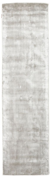 Broadway - Silver White Rug 80X300 Modern Hallway Runner  Light Grey/Beige ( India)