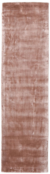 Broadway - Dusty Rose Rug 80X300 Modern Hallway Runner  Light Pink/Dark Red ( India)