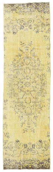 Colored Vintage Rug 81X284 Authentic  Modern Handknotted Hallway Runner  Beige/Dark Beige (Wool, Turkey)