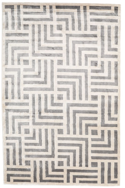 Maze Rug 300X400 Authentic  Modern Handknotted Light Grey/White/Creme Large ( India)