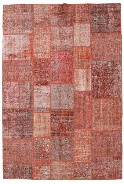 Patchwork Rug 205X301 Authentic  Modern Handknotted Dark Red/Brown (Wool, Turkey)