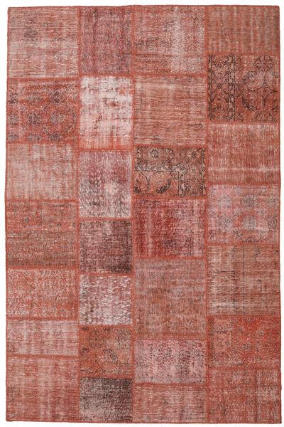 Patchwork Rug 198X302 Authentic  Modern Handknotted Dark Red/Brown (Wool, Turkey)