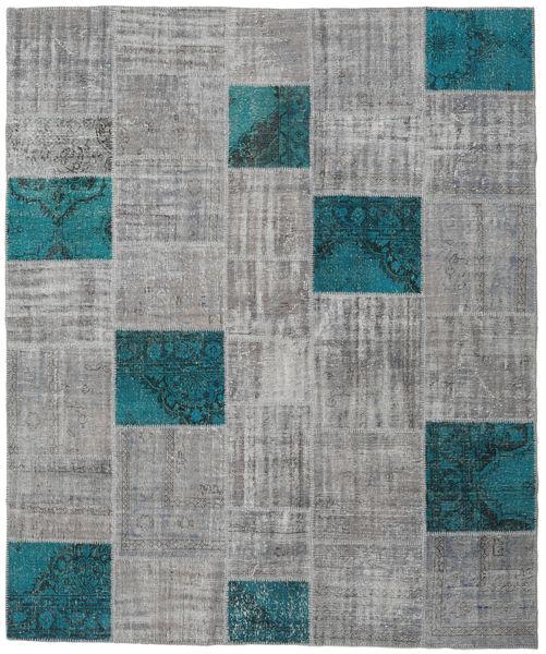 Patchwork Rug 250X302 Authentic  Modern Handknotted Light Grey/Dark Grey Large (Wool, Turkey)