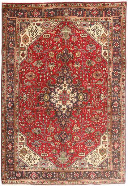 Tabriz Rug 200X294 Authentic  Oriental Handknotted Dark Red/Brown (Wool, Persia/Iran)