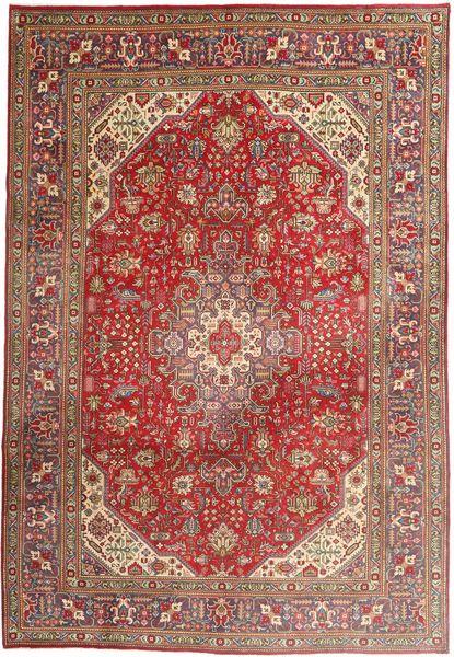 Tabriz Rug 203X298 Authentic  Oriental Handknotted Dark Red/Brown (Wool, Persia/Iran)