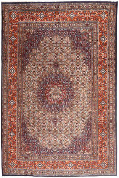 Moud Rug 208X315 Authentic  Oriental Handknotted Dark Red/Light Brown (Wool/Silk, Persia/Iran)