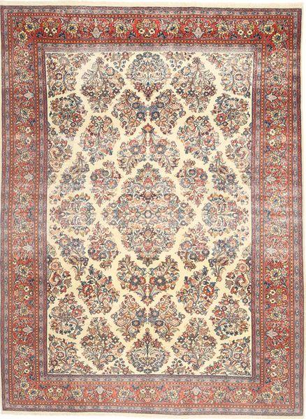 Sarouk Patina Rug 200X280 Authentic  Oriental Handknotted Yellow/Dark Brown (Wool, Persia/Iran)