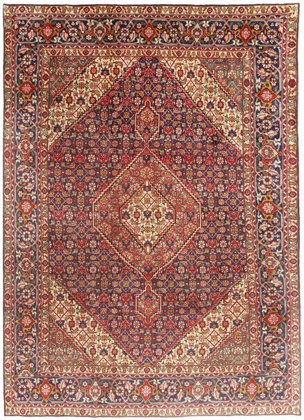 Tabriz Rug 203X291 Authentic  Oriental Handknotted Dark Red/Light Brown (Wool, Persia/Iran)