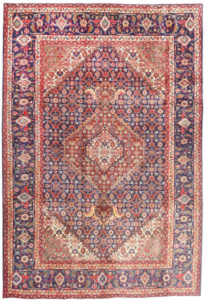 Tabriz Rug 202X304 Authentic  Oriental Handknotted Brown/Pink (Wool, Persia/Iran)