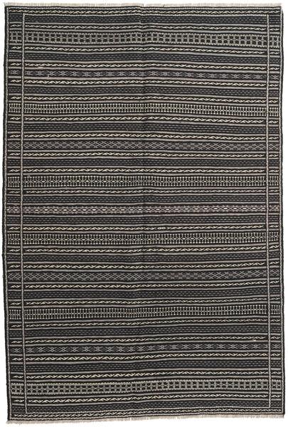 Kilim Rug 161X238 Authentic  Oriental Handwoven Dark Grey/Black (Wool, Persia/Iran)