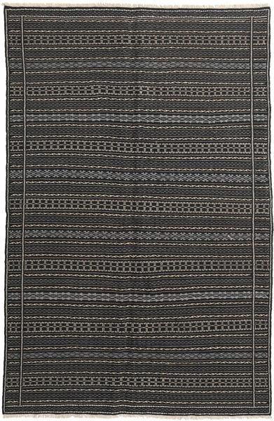 Kilim Rug 152X235 Authentic  Oriental Handwoven Dark Grey/Black (Wool, Persia/Iran)