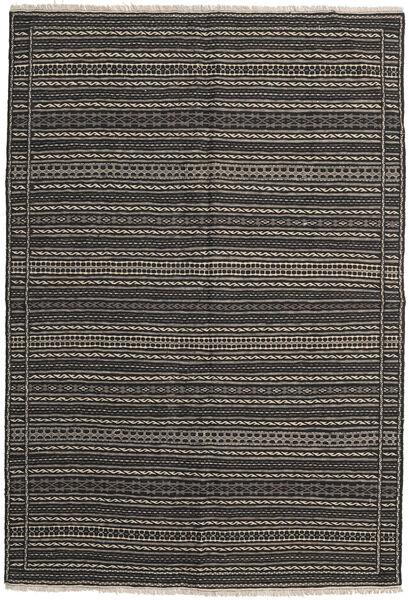 Kilim Rug 159X233 Authentic  Oriental Handwoven Dark Grey/Black (Wool, Persia/Iran)