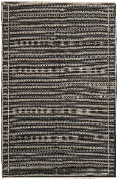 Kilim Rug 155X236 Authentic  Oriental Handwoven Dark Grey/Black/Light Grey (Wool, Persia/Iran)