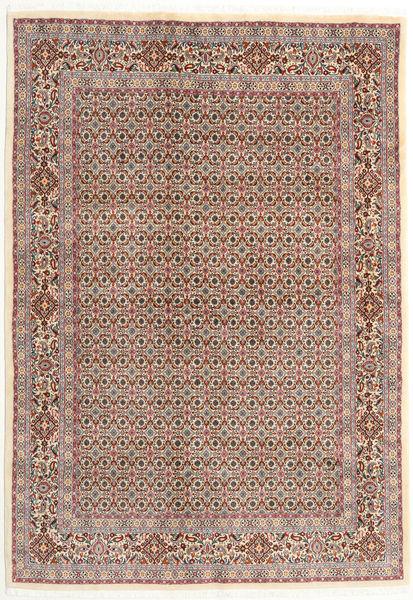 Moud Rug 166X238 Authentic  Oriental Handknotted Dark Red/Light Grey (Wool/Silk, Persia/Iran)