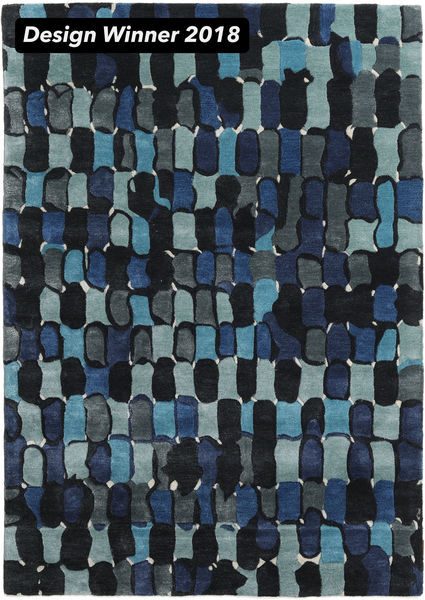 In The Woods - 2018 Rug 160X230 Modern Dark Blue ( India)