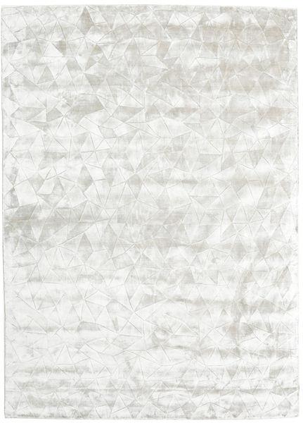 Crystal - Silver White Rug 210X290 Modern Light Grey/Beige ( India)