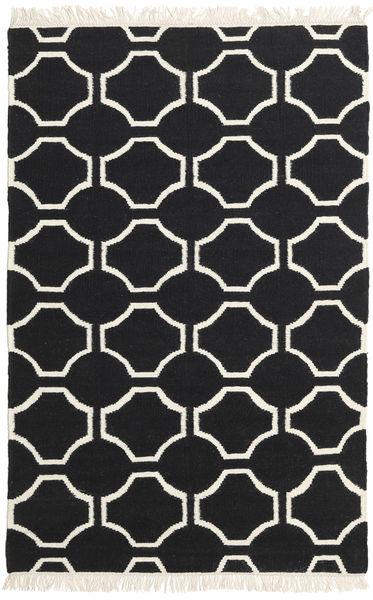 London - Black/Off White Rug 160X230 Authentic  Modern Handwoven Black/Beige (Wool, India)