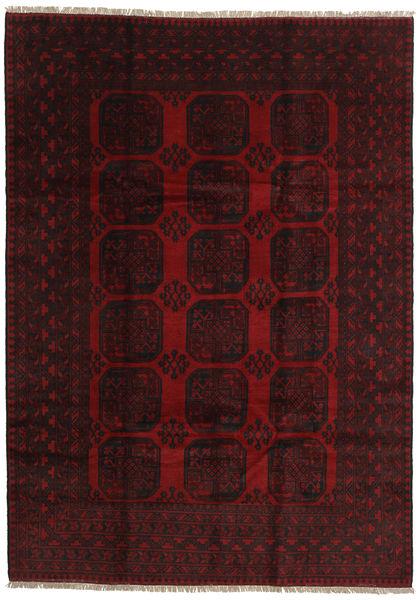 Afghan Rug 200X279 Authentic  Oriental Handknotted Dark Red (Wool, Afghanistan)