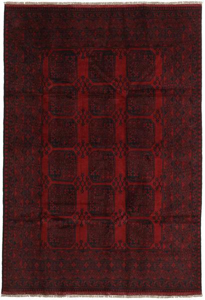 Afghan Rug 198X288 Authentic  Oriental Handknotted Dark Red (Wool, Afghanistan)