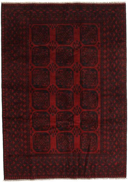 Afghan Rug 203X286 Authentic  Oriental Handknotted Dark Red (Wool, Afghanistan)