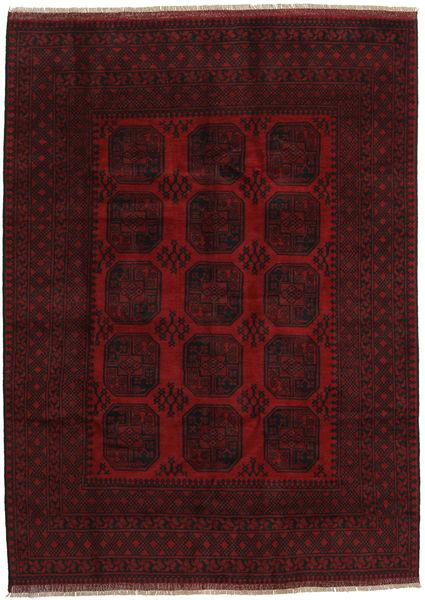 Afghan Rug 199X275 Authentic  Oriental Handknotted Dark Red (Wool, Afghanistan)