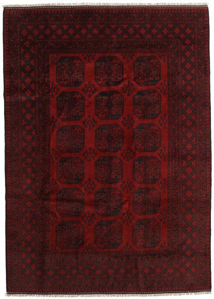 Afghan Rug 204X284 Authentic  Oriental Handknotted Dark Red (Wool, Afghanistan)