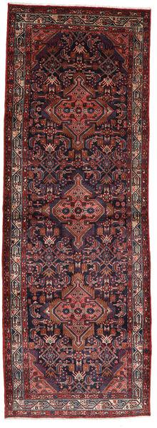 Asadabad Rug 112X320 Authentic  Oriental Handknotted Hallway Runner  Dark Red/Dark Brown (Wool, Persia/Iran)