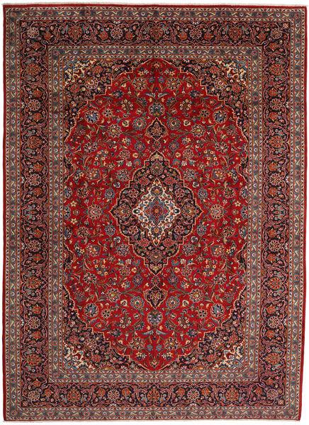 Keshan Rug 297X410 Authentic  Oriental Handknotted Dark Red/Dark Grey Large (Wool, Persia/Iran)