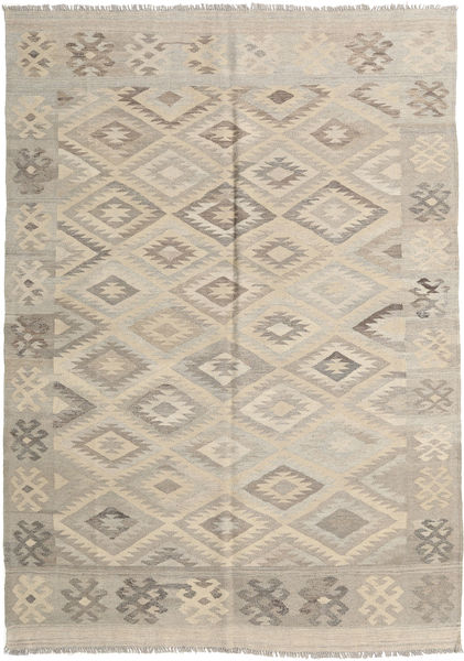 Kilim Afghan Old Style Rug 168X234 Authentic  Oriental Handwoven Light Grey/Beige (Wool, Afghanistan)