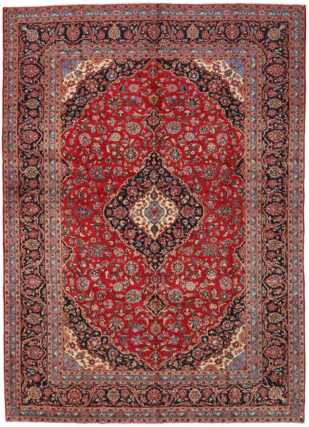 Keshan Rug 282X396 Authentic  Oriental Handknotted Dark Red/Rust Red Large (Wool, Persia/Iran)