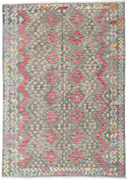 Kilim Afghan Old Style Rug 182X241 Authentic  Oriental Handwoven Light Grey/Dark Grey (Wool, Afghanistan)