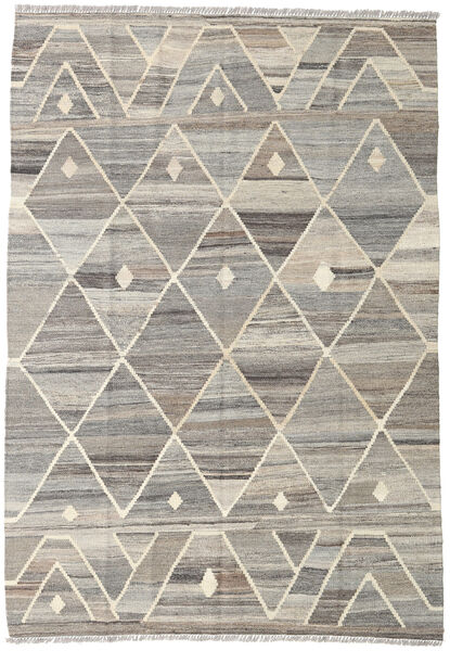Kilim Ariana Rug 132X188 Authentic  Modern Handwoven Light Grey (Wool, Afghanistan)