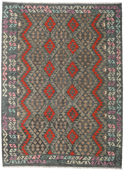 Kilim Afghan Old Style Rug 173X235 Authentic  Oriental Handwoven Dark Grey/Light Grey (Wool, Afghanistan)