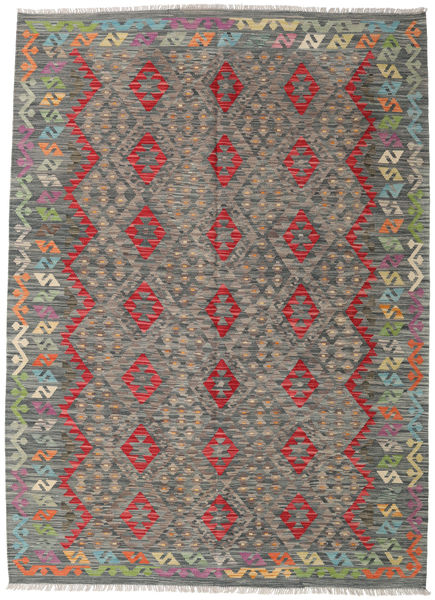 Kilim Afghan Old Style Rug 181X249 Authentic  Oriental Handwoven Dark Grey/Light Grey (Wool, Afghanistan)
