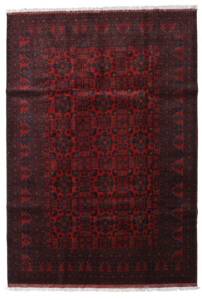 Afghan Khal Mohammadi Rug 204X293 Authentic  Oriental Handknotted Dark Brown/Dark Red (Wool, Afghanistan)