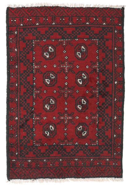 Afghan Rug 76X112 Authentic  Oriental Handknotted Dark Red/Black (Wool, Afghanistan)