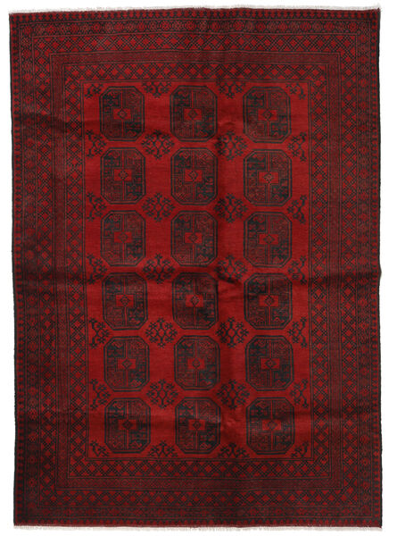 Afghan Rug 202X285 Authentic  Oriental Handknotted Dark Red/Crimson Red (Wool, Afghanistan)